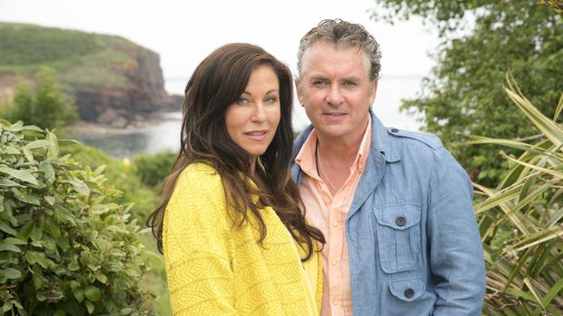 Kat and Alfie Moon have turned up in Ireland in the first official snap of the EastEnders spin-off Redwater (BBC/PA)