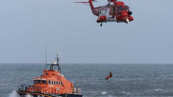The Irish Coast Guard and RNLI are involved in the search