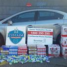Black market cigarettes and alcohol seized in Dublin (Irish Revenue Customs/PA)