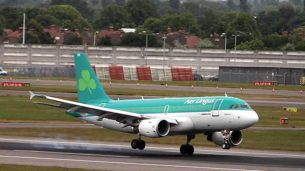 An Aer Lingus plane (Stock photo)