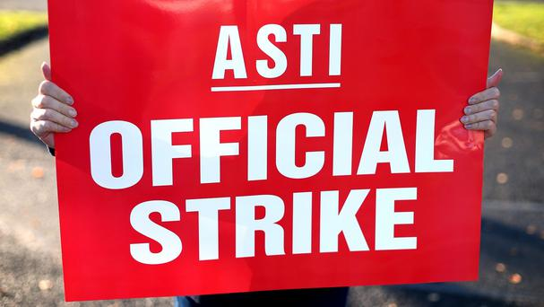 'The wave of work stoppages by the Association of Secondary Teachers Ireland (ASTI) will affect up to 250,000 students'