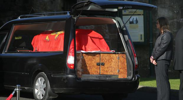 Anthony Foley coffin is taken to St Flannan's Church in Killaloe, Co Clare, for his funeral