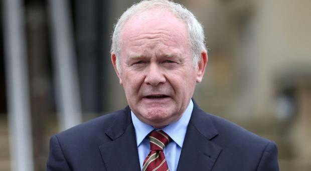 The north's Deputy First Minister Martin McGuinness Photo: PA News