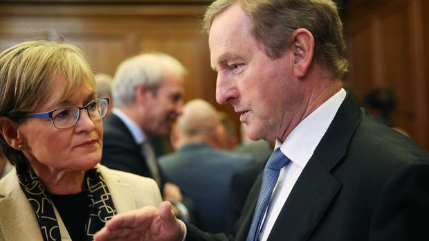 Taoiseach Enda Kenny in conversation with Mairead McGuinness MEP