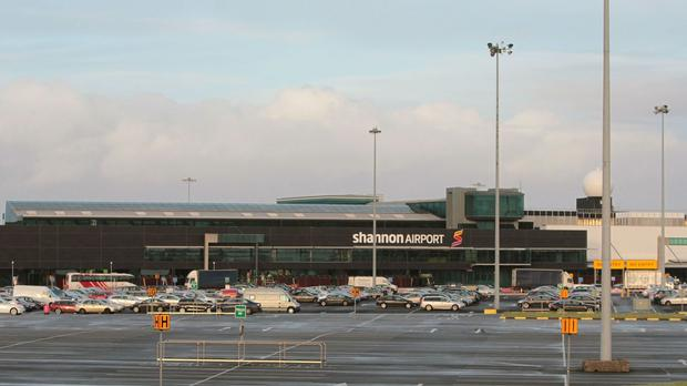 The flight landed at Shannon Airport