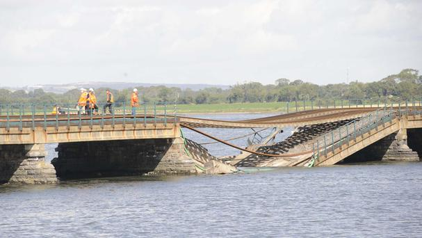 In 2009, a section of a bridge over the Broadmeadow Estuary on the main Dublin-to-Belfast line collapsed