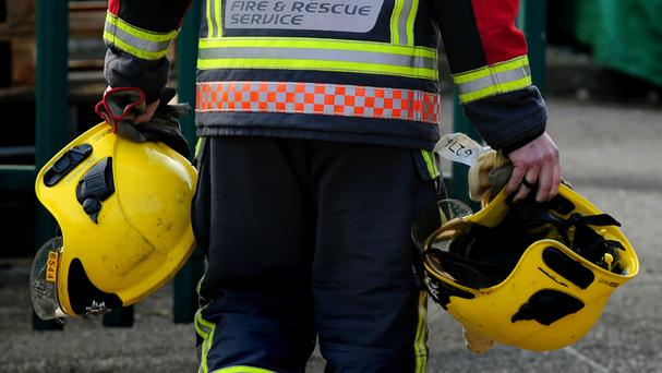 The fire occurred at Windermere avenue in Invermore Park in Arklow at around 8.30am this morning.