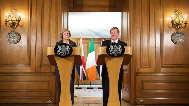 Theresa May and Enda Kenny discussed the situation in Northern Ireland