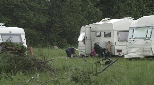 Relatively few Travellers live in caravans, the study found