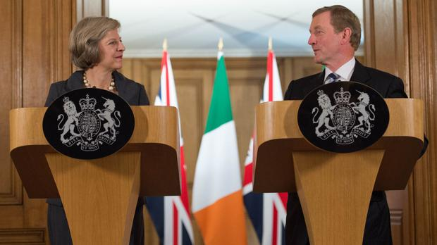 British Prime Minister Theresa May and Taoiseach Enda Kenny Picture: PA