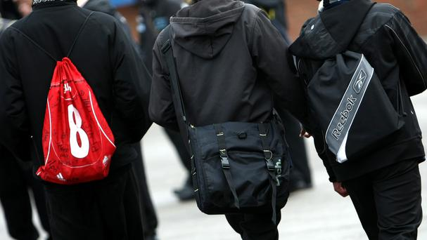 One in three parents of primary aged pupils said their children could not walk to school because of the weight of their bag (Stock picture)