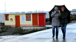 Cold temperatures and heavy showers expected for the weekend