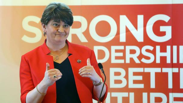 Arlene Foster Photo: PA