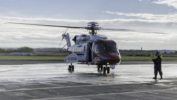 The CHC search and rescue service operates on a 24-hour, all year-round basis using Sikorsky S92 helicopters