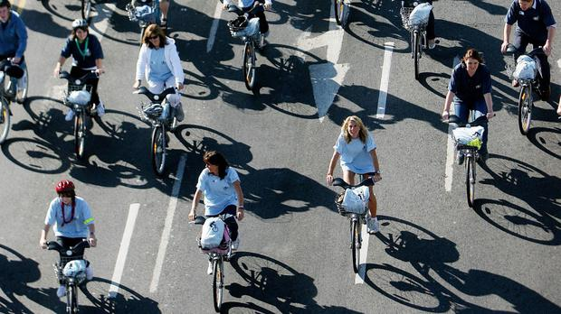 Hundreds of cyclists crossed the River Liffey last summer to launch the Dublin bikes rental scheme.