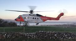 Investigators are now examining the theory that the aircraft suffered a sudden and serious mechanical failure which forced an emergency landing (Picture: Irish Coast Guard/PA)
