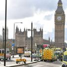 Emergency personnel on Westminster Bridge
