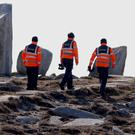Members of the Irish Coastguard continue searching along the coastline near Blacksod