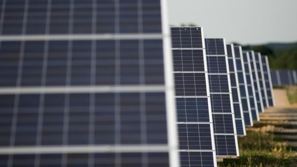'A number of companies are vying to deploy vast solar arrays in Ireland as the country struggles to meet a 2020 EU target of generating 40pc of its electricity from renewable sources.' Stock photo: PA
