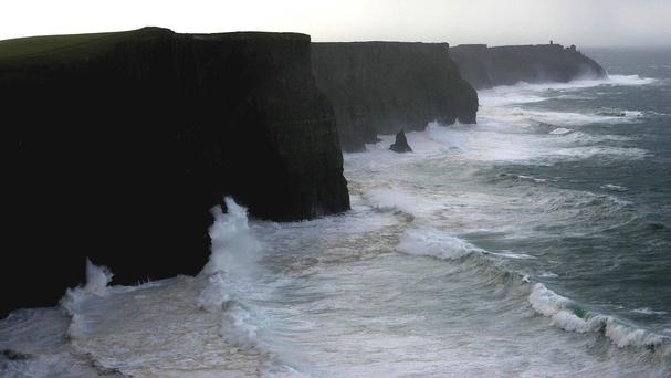 The alarm was raised at around 6.30pm yesterday when a man was seen falling from the Cliffs of Moher