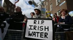 Campaigners against water charges say politicians will be 'held to account' if they go back on election pledges