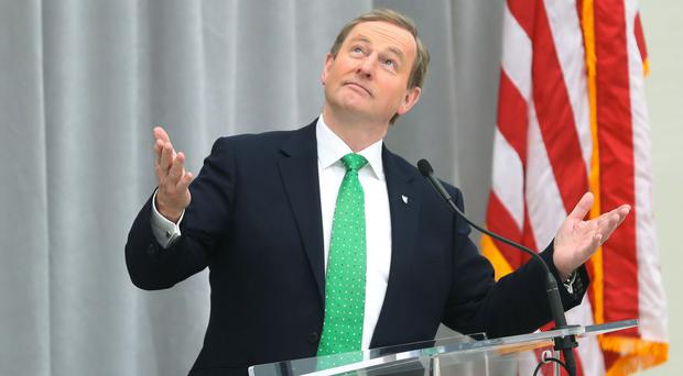 Taoiseach Enda Kenny in Washington for St Patrick's Day Picture: PA