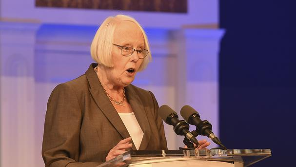 Supreme Court Judge Mary Laffoy speaks during the Citizens' Assembly