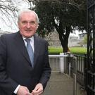 Bertie Ahern said now was not the time for a border poll on a united Ireland