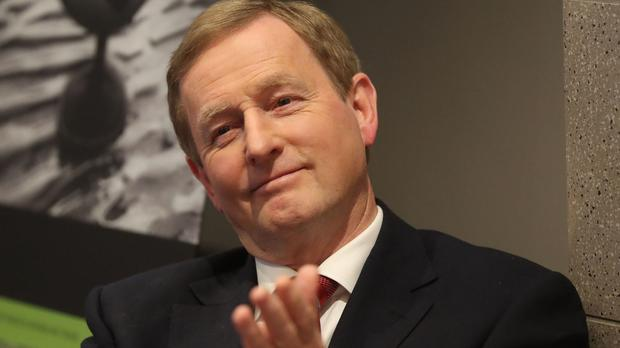 Enda Kenny revealed his decision to stand down at a private meeting of the Fine Gael parliamentary party