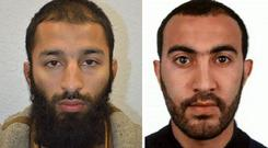 Two of the London Bridge terrorists were named as Khuram Shazad Butt and Rachid Redouane (Metropolitan Police/PA)
