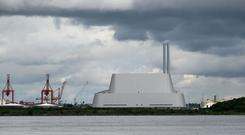 Poolbeg incinerator in Dublin