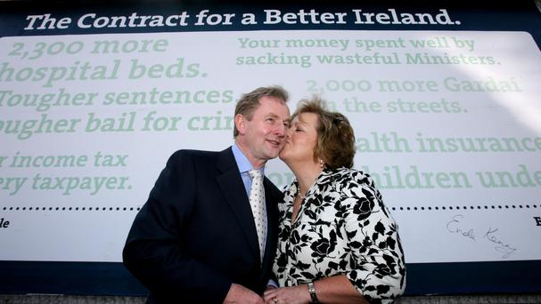 Enda Kenny with his wife Fionnuala.