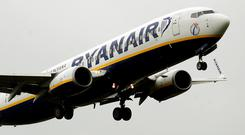 Ryanair may be flying at an all-time high but analysts believe there is yet more spectacular growth to come from the Irish carrier, new research reveals. Stock photo: PA
