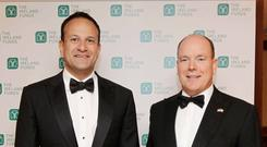Taoiseach Leo Varadkar with Prince Albert II of Monaco at the 32nd Annual Conference Gala Dinner of The Ireland Funds at Powerscourt Hotel, Enniskerry