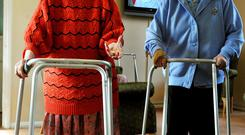 The rate of inflation over the past year has been stagnant at around 1pc, meaning that under an indexed system OAPs would see their income rise by around €2.27 in October's Budget. (Stock photo)