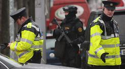 Gardai seized the plastic explosive after armed officers stopped a taxi in the Ballybough area at about 6pm on Friday