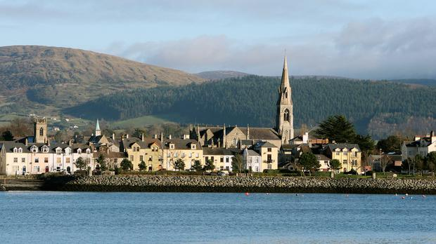 Warrenpoint on the northern shore of Carlingford Lough