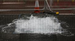 A burst water main has been blamed for the crisis which saw around 60,000 homes and business left without water