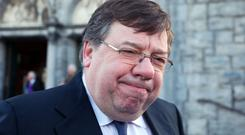 Brian Cowen: sole recipient of anger