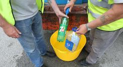 Water was supplied by Drogheda Council workers following a burst pipe last week