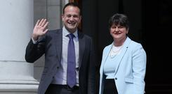 Taoiseach Leo Varadkar and DUP leader Arlene Foster are meeting again on Friday