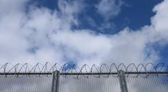 The suspected drug parcel is thought to have been thrown over the prison walls