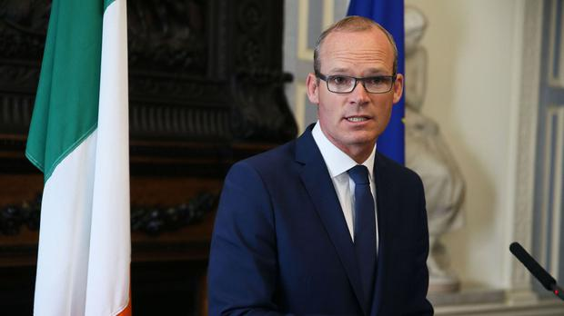 Foreign Affairs Minister Simon Coveney spoke to the media, at Iveagh House in Dublin, in response to the UK Government's Brexit proposals