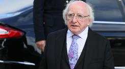 Irish President Michael D Higgins