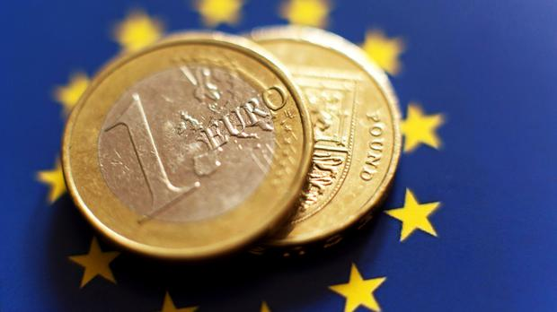 Sterling weakened to beyond 93 pence against the euro yesterday. Stock image