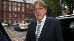 The European Parliament's chief Brexit negotiator Guy Verhofstadt in Belfast at the start of a two day fact-finding mission