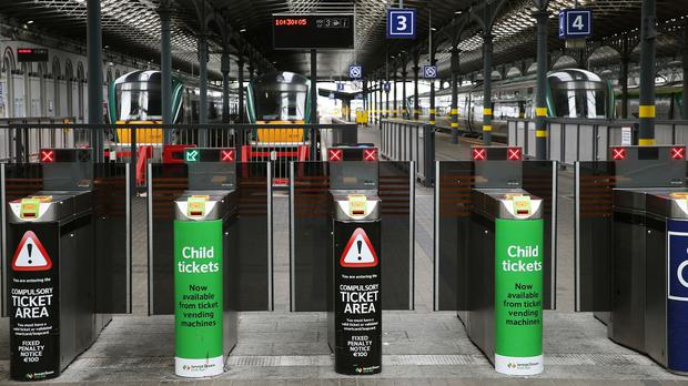 Up to 155,000 rail passengers a day would be affected if a strike goes ahead. Stock picture