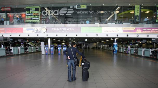 Flight cancellations at Dublin Airport yesterday led to many campaigners being stranded. Stock photo