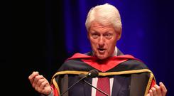 Former US president Bill Clinton received an honorary doctorate at Dublin City University