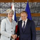 Mrs May is also facing a demand from Irish premier Leo Varadkar for a written guarantee there will be no return to an Irish 'hard border' of the past